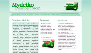 Projekt strony Mydełko Naturalne z Nanosrebrem